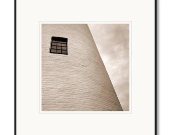 Black and white photography, sepia photography, Key Biscayne Florida lighthouse, framed artwork, framed photo, lighthouses, Adrian Davis,