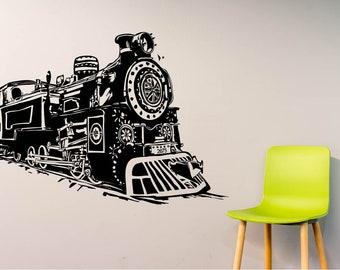 Decorative Train Wall Decal locomotive vinyl Wall Sticker Mural