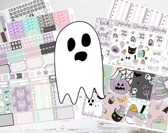 """Deluxe Kit // Vertical - 8 Pages // Weekly Sticker Kit // For Use With Erin Condren or Happy Planner // """"Trick or Treat"""""""