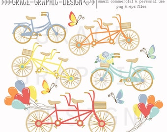 Clipart, Bike Clipart, Tandem Bike Clipart, Clipart Store, Bike Clipart, Balloon Clipart Butterfly Clipart, Commercial Use Clipart