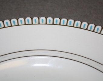 Vintage Crescent Ivory Blue Gold Dinner PLATE George Jones Sons England