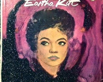 Glittered Eartha Kitt Fabulous Album Art