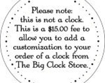 Customize your Big Clock Store Clock