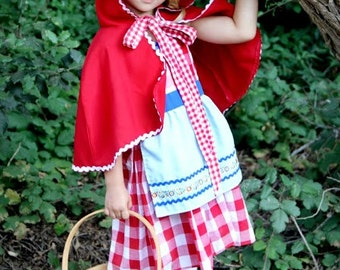 Red Riding hood costume, red cape, Little Red Riding hood costume, toddler girls Halloween costume, girls costume, comfortable costume