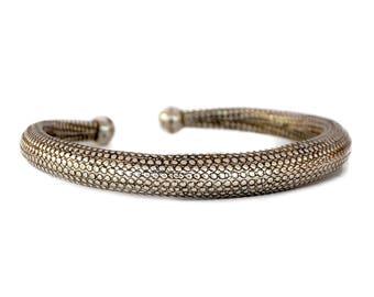 Snake Skin Bracelet, Tribal Bracelet, Gypsy Bracelet, Silver Bracelet, Boho Bracelet, Bohemian Bracelet, Cuff Bracelet, Ethnic Bracelet
