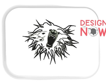 Mascot Bear Machine Embroidery Design