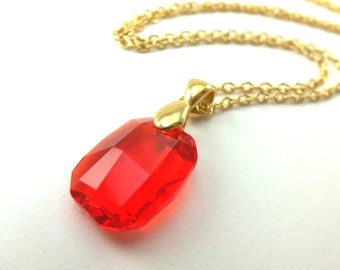 Yellow crystal necklace gold jewelry yellow crystal gold red crystal pendant necklace gold jewelry red necklace gold necklace large pendant metal aloadofball Gallery