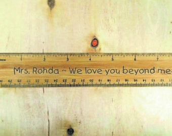 Personalized Teacher Gifts, Gifts for Teachers, Teacher Appreciation Gift, Unique Gifts for Teacher - 12 Inch Personalized Ruler.