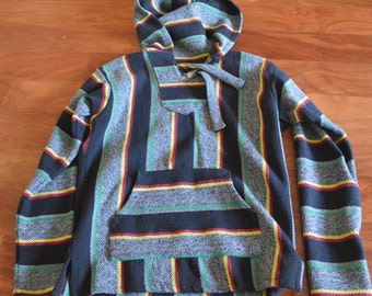 Mexican/Rasta Pullover Poncho