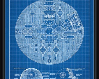 Star Wars Death Star Patent Blueprint Poster A4