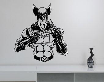 Wolverine Wall Decal Vinyl Sticker Comics Superhero Art X-Men Decorations for Home Teen Kids Boys Room Bedroom Playroom Decor wlv2