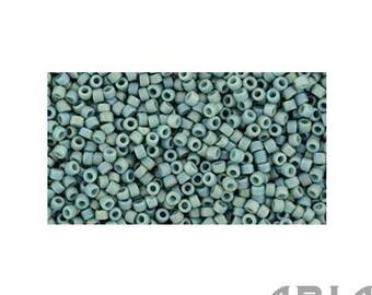 SEMI GLAZED Rainbow TURQUOISE (2634F) : 15/o Toho Semi Glazed Japanese Seed Beads (10 grams)