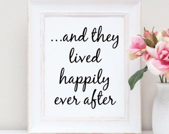 Happily Ever After foil print - wedding gift - gift for couples