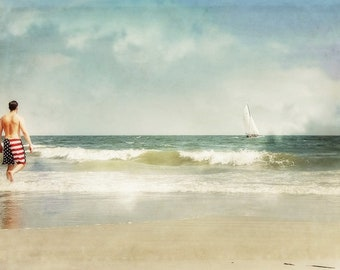 From Sea to Shining Sea is a photographic art print of a seaside scene on Hilton Head Island