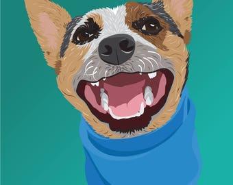 Blue Heeler Puppy Print