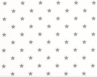 "Premier Prints Fabric-Mini Star-White/Storm Gray Twill-or-Choice of 23 Colors-54"" wide-Decorator Cotton-Fabric By The Yard"