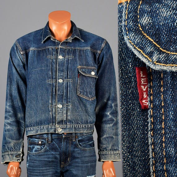 Selvedge Denim Vintage Levis Jacket 1940s Big E Levis Jean