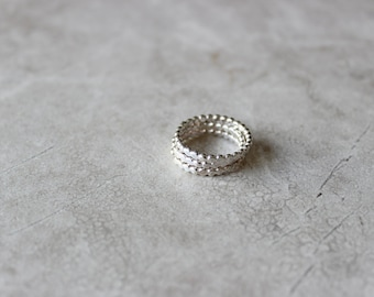 Silver Dot Stacking Ring, Simple Sterling Silver Rings