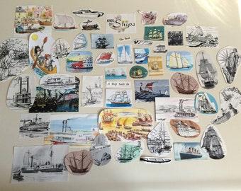Sail Away With Me paper ephemera pack
