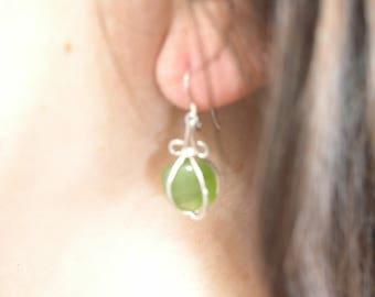 Green Promise, Sterling Earrings with Periodot Crystal