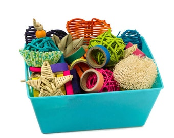 Tiny Treasures Basket of Toys - Hamster Mouse Gerbil Rat Toy Chew Toy Small Animal Rodent Chews