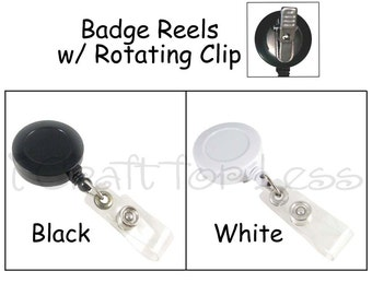 25 Retractable ID Badge Holder / Reels - Vinyl Strap and Rotating Clip - SEE COUPON