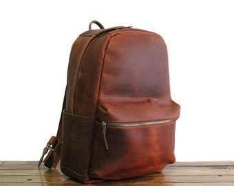 Brown Leather Backpack, Leather Rucksack, Laptop Backpack, Mens Leather Backpack, Womens Leather Rucksack Brown, Leather Backpack Purse