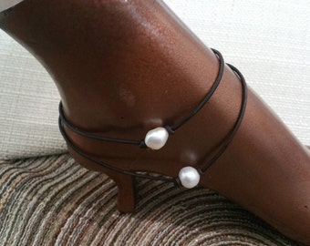 Single Freshwater Pearl Anklet