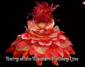 Berry of the Blossom Holiday Line, Fairy, Faerie, OOAK, Doll
