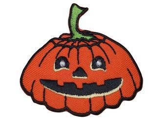 Halloween Jack-O-Lantern Pumpkin Applique Patch (Iron on)