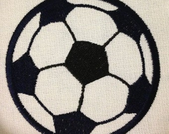 Applique Soccer Ball Machine Embroidery Design - 4 Sizes
