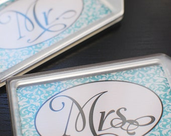 Mr. and Mrs. Luggage Tags - Travel