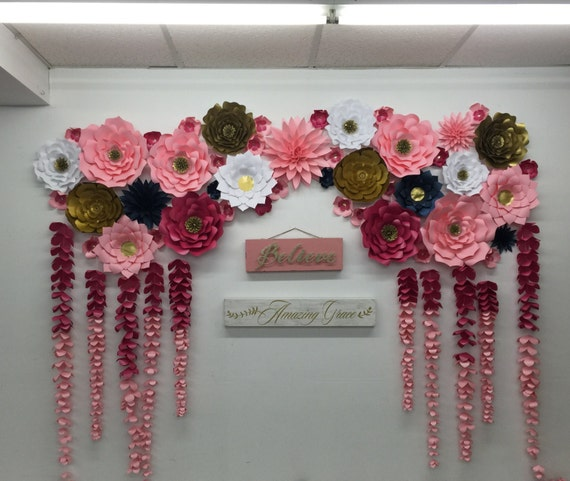 Large paper flowers backdrop wedding arch photo booth flower mightylinksfo