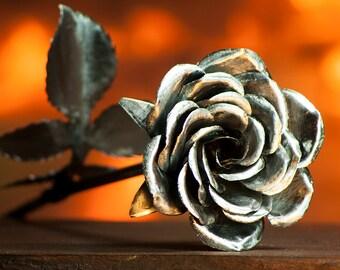 Decorative Flowers Metal Rose Perfect Handcrafted Steel Rose floral arrangement centerpiece bouquet decoration home decor houseware ornament