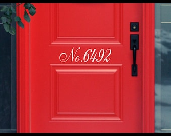 Personalized House Number Door Decal