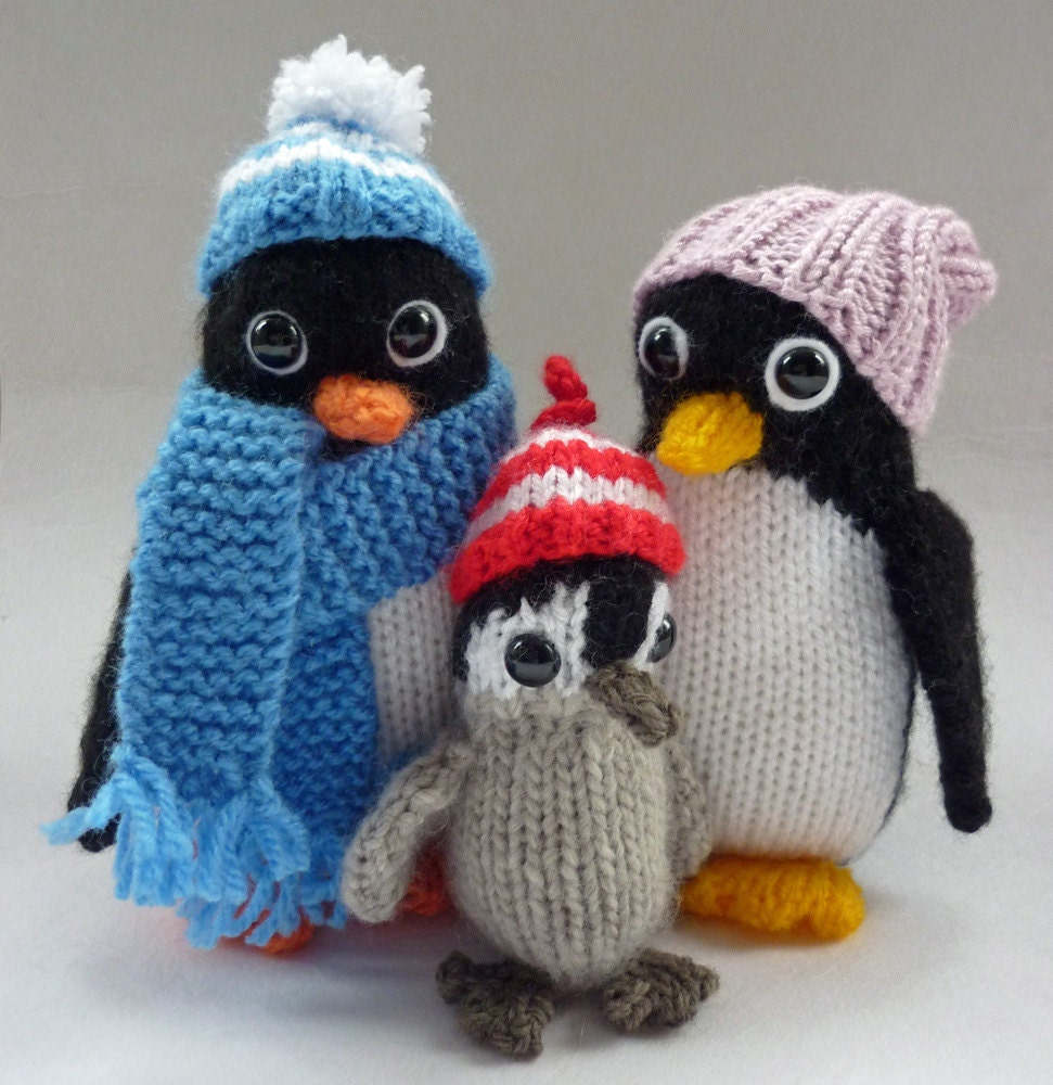 Penguin Knitting Pattern, Knitted Penguin Pattern, Penguin Toy ...