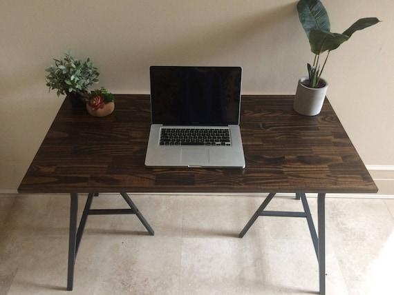 Long Desk, Narrow Desk, Long Narrow Desk, Wooden Desk, Workstation, Large  Desk, WoodDesk, Long Narrow Table On Ikea Legs. CHOOSE ANY SIZE!