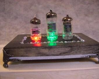 Multi Colour Three  Light  Radio Tube Art