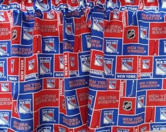 New York Rangers Handmade Hockey Valance 40 x 13