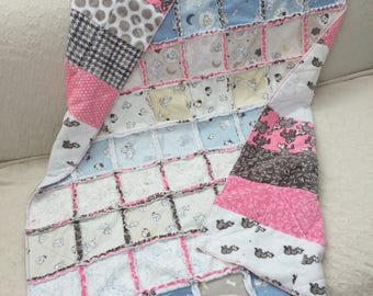 Baby Girl Rag Quilt with 101 Dalmation Print