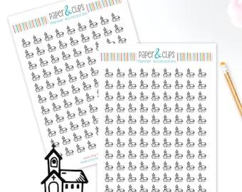 99 Church Sticker sheet, Church Night Reminder Stickers, Clear Planner Stickers, Transparent stickers