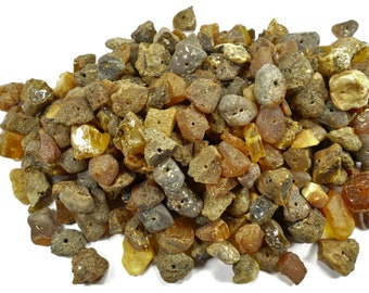 Raw natural Amber beads native from the mine in Baltic Sea color mix drilled rough for earrings jewellery (#AC636)