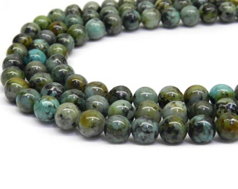 African Turquoise, 8mm Beads, African Turquoise Beads, Turquoise Bead, African Bead, 6mm Beads, 8mm Gemstone Beads, Beads for Jewelry Making