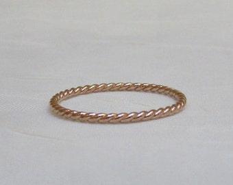 10k rose gold ring Etsy