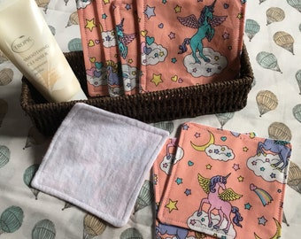Make up remover wipes, unpaper towels, face cloth, ecofriendly, unicorn