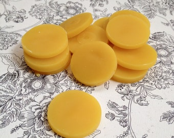 100% All Natural Pure Beeswax Coins - Four Ounces - Bath and Beauty Products Supply
