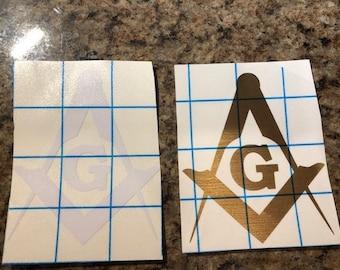 Masonic Logo-Square, G, Compass - Variation #2