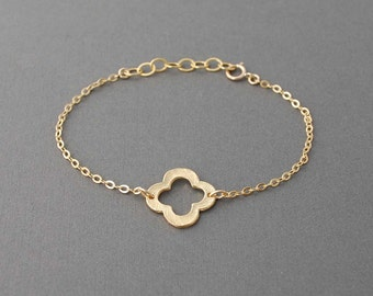 Gold Clover Bracelet also in Silver