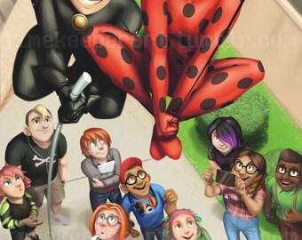 Miraculous Ladybug Poster Print