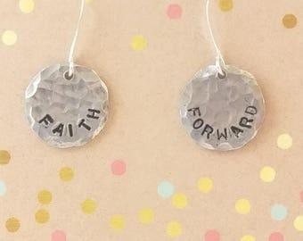 Faith Forward, Stamped Earrings